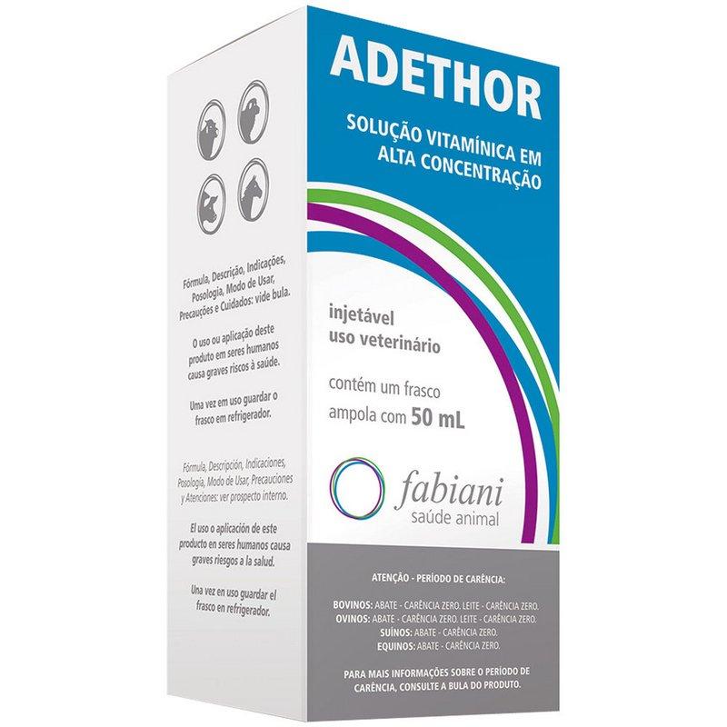 Ade Adethor Injetavel Suplemento De Vitamina 50 Ml Fabiani