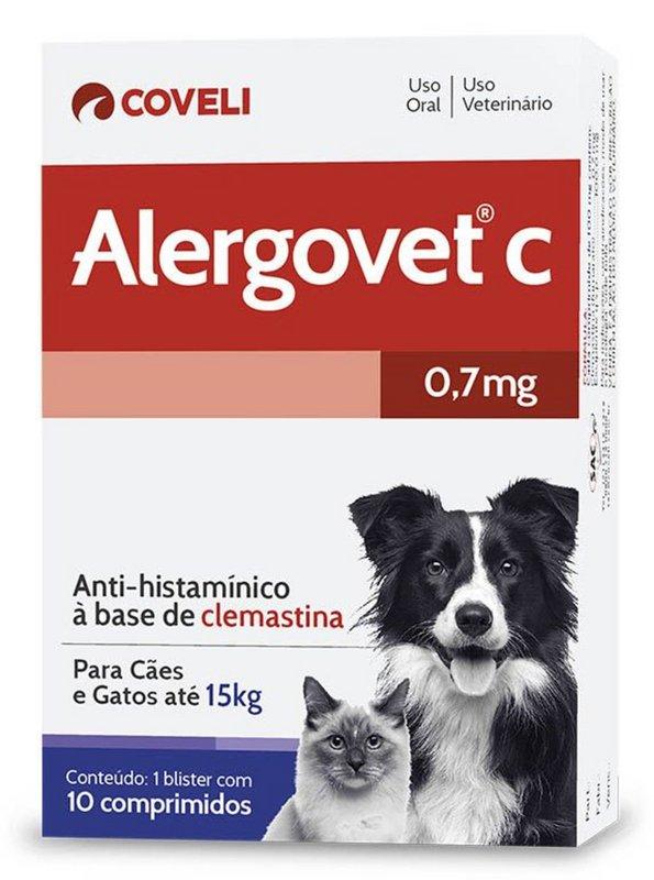 Alergovet C 10 Comprimidos Coveli - 0,7mg