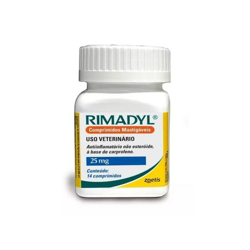 Antiinflamatório Rimadyl Zoetis 25mg 14 Comprimidos