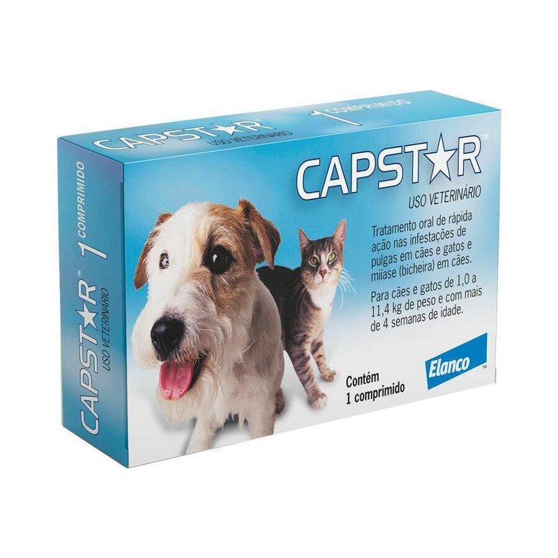 Antipulgas Capstar 11,4mg - Cães E Gatos Até 11kg 6 Compr.