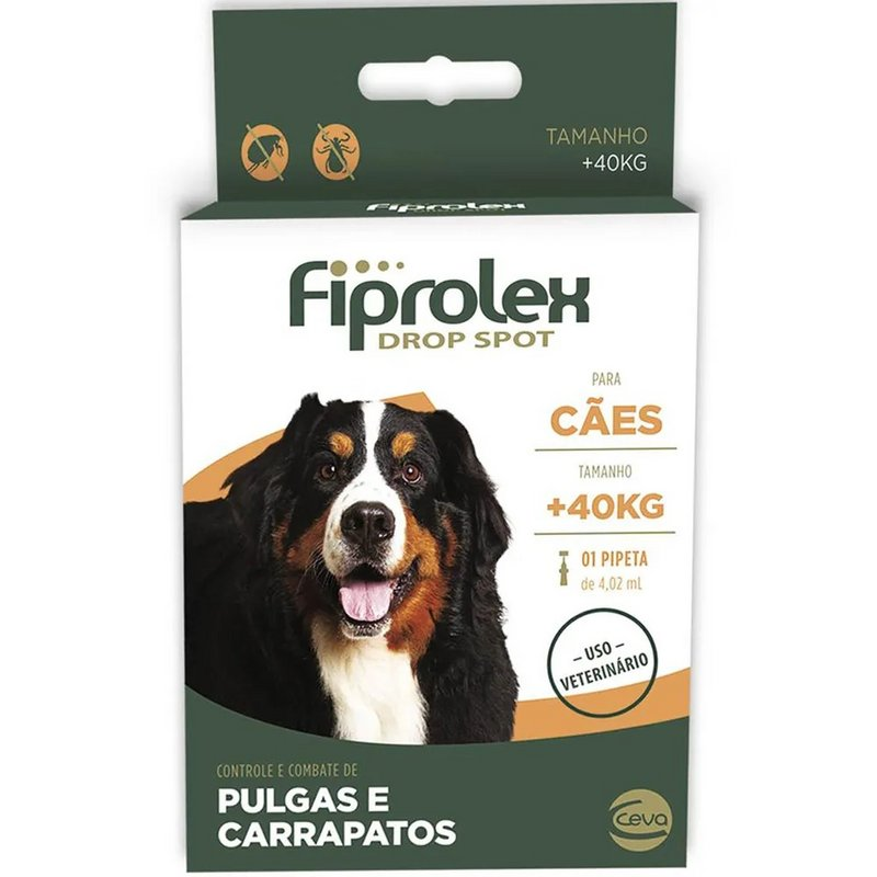 Antipulgas E Carrapatos Fiprolex Ceva Mais De 40kg 1 Pipeta