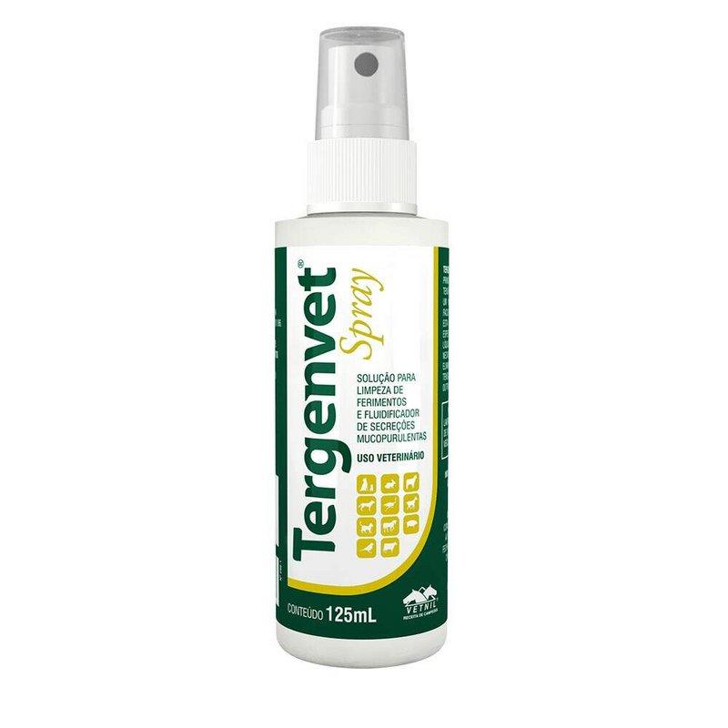 Antisséptico Tergenvet Spray Vetnil - 125ml Limpa Ferimento