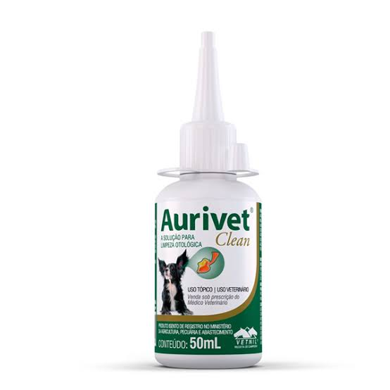 Aurivet Clean 50ml Vetnil Solução Limpeza Otologica