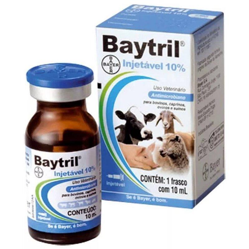 Baytril Injetavel 10% - 10 Ml