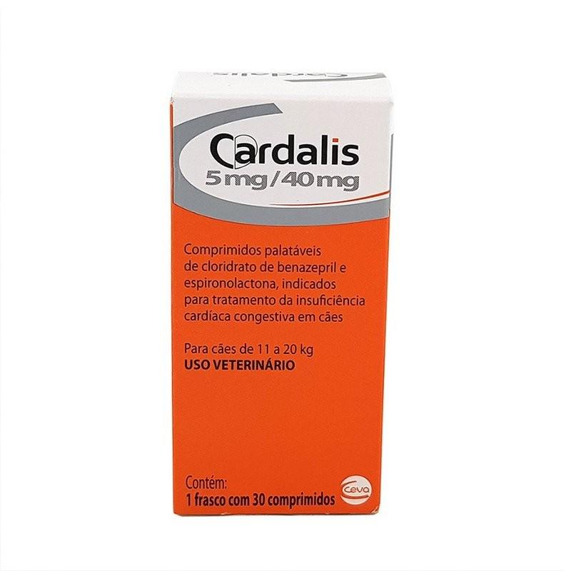 Cardalis 5mg /40mg Cães 11 A 20kg 30 Comprimidos Ceva