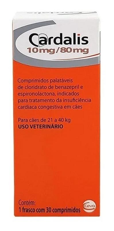 Cardalis Para Cães 30 Cpd - 10mg/80mg Cães De 21 A 40kg