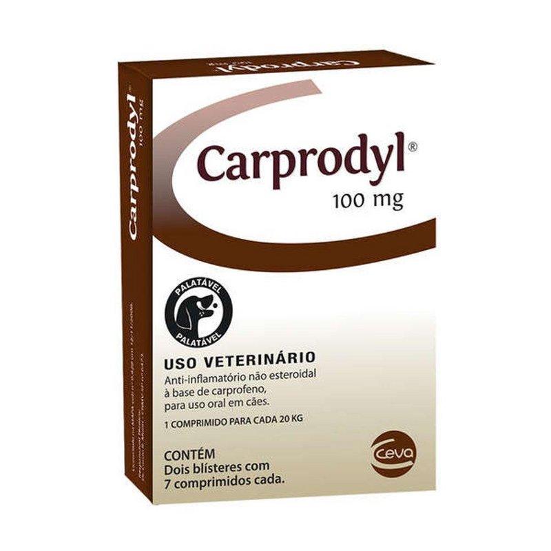 Carprodyl 100mg 14 Comp Ceva Anti-inflamatório Cães