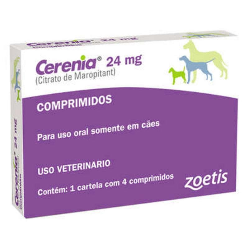 Cerenia 24 Mg - Zoetis Anti Enjoo Para Cães C/4 Comprimidos