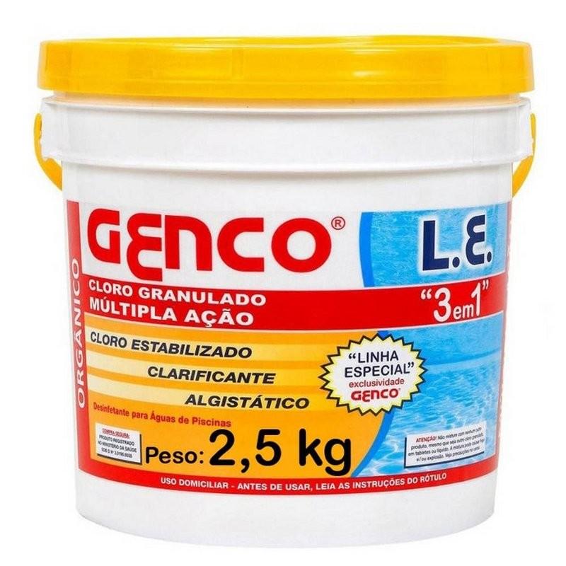 Cloro Granulado Genco Multipla Ação 3em1 Clarificante 2,5kg