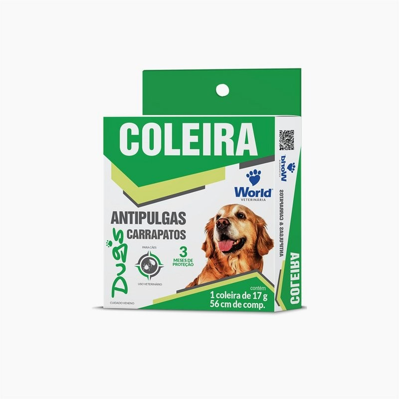 Coleira Antiparasitária(pulgas/carrap.) P/ Cães World Dugs