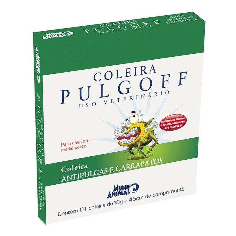 Coleira Antipulgas Mundo Animal Pulgoff Para Cães - 45cm