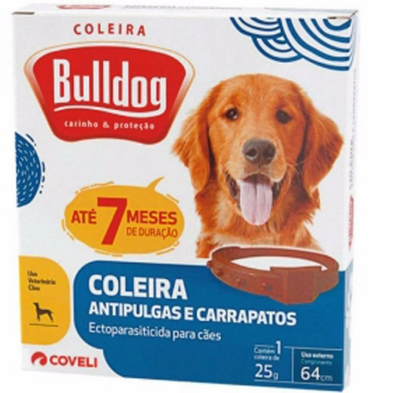 Coleira Carrapaticida E Anti Pulgas Bulldog 64cm
