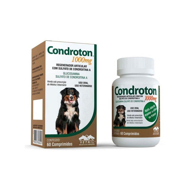 Condroton Regenerador Articular 1000mg 60 Comprimidos Vetnil