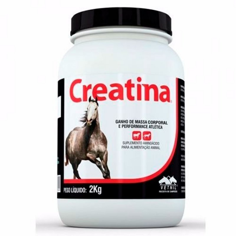 Creatina Suplemento Para Cães E Cavalos Vetnil 2kg