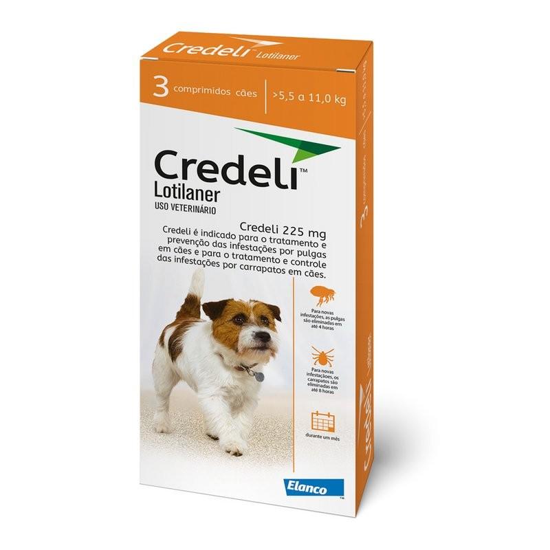 Credeli Antipulgas/carrapatos Cães 5,5 A 11kg- 3 Comprimidos