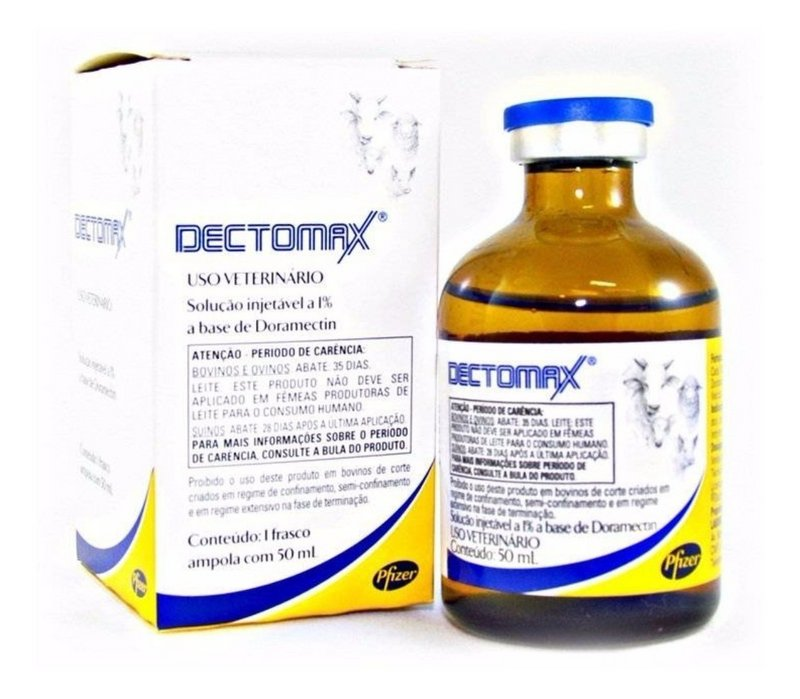Dectomax 50ml - Doramectina 1% - Zoetis Injetável