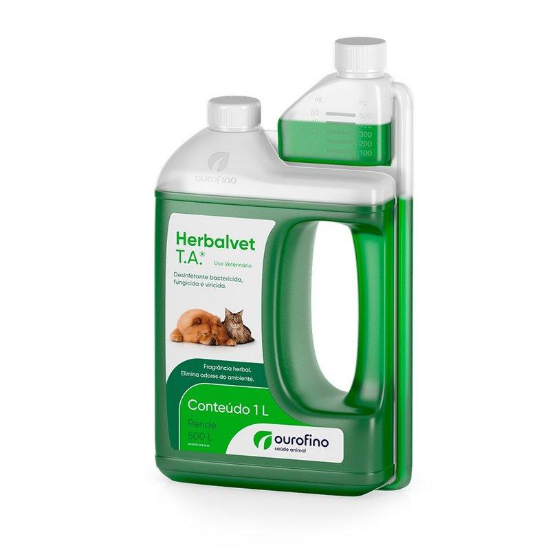 Desinfetante Herbalvet T.a. Ourofino 1 Litro - Rende 500 L