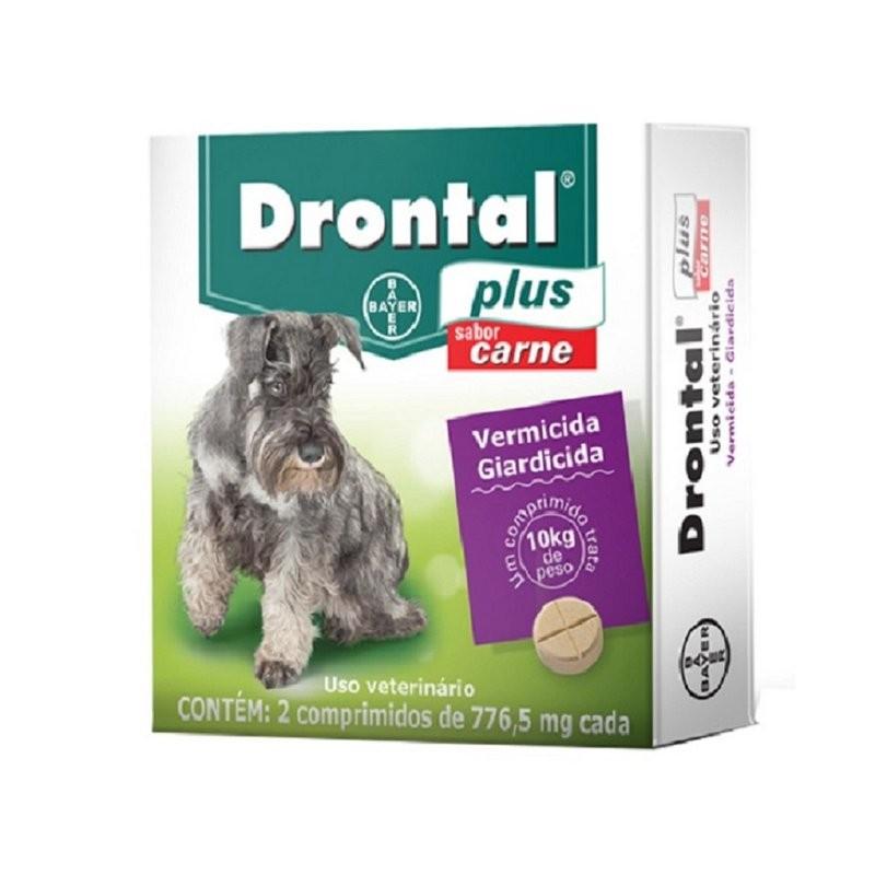 Drontal Plus Carne Cães 10kg Vermifugo 4 Comprimidos Bayer