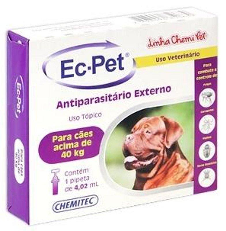 Ec-pet Antiparasitário Externo Antipulgas Cão Acima 40 Kg