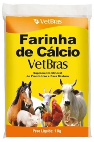 Farinha De Cálcio Vetbras - Suplemento Mineral 1kg