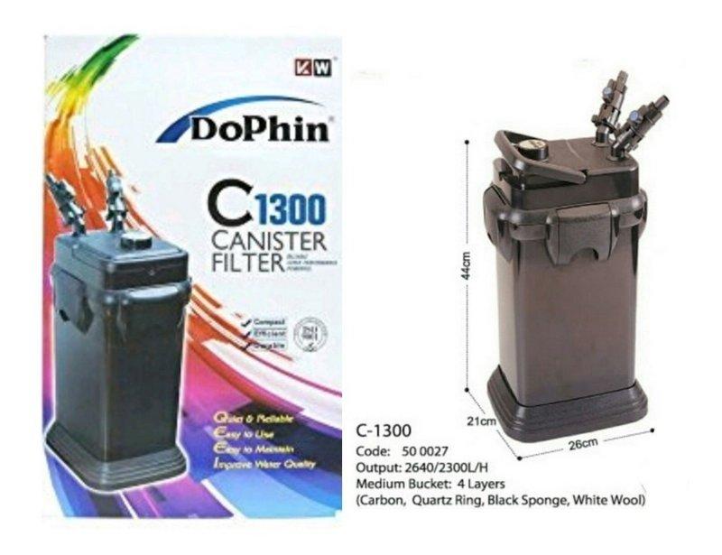 Filtro Para Aquário Canister Dolphin C1300 110v 2640lh