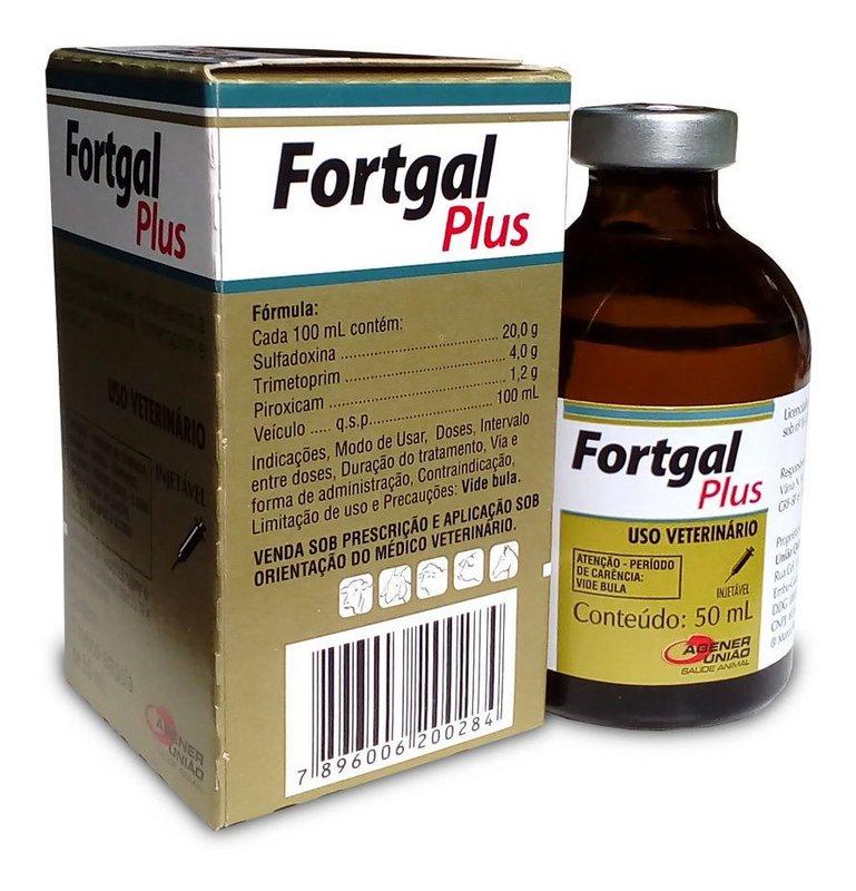 Fortgal Plus Antibiotico E Anti-inflamatorio Inj. 50ml