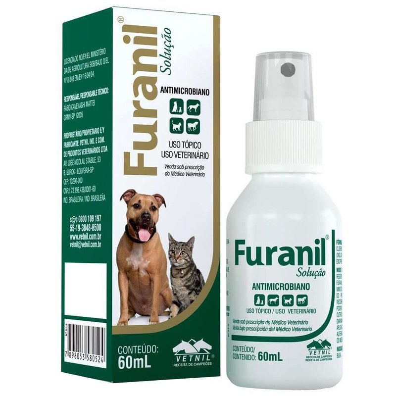 Furanil Spray Antimicrobiano Vetnil - 60ml