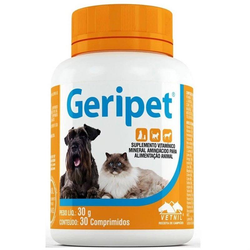 Geripet - 30 Comprimidos - Suplemento P/ Cães E Gatos Idosos