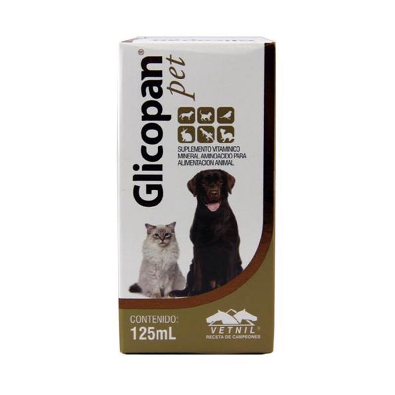 Glicopan Pet Suplemento Vitamínico Mineral Aminoácido 125ml