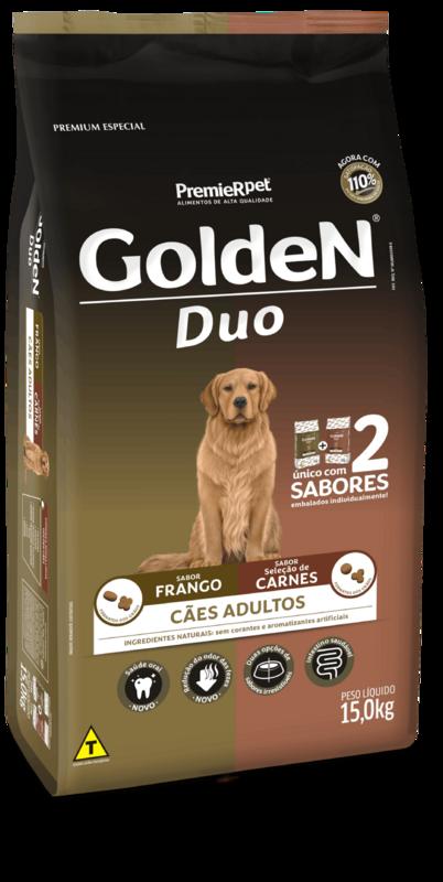 Golden Adultos Duo Frango E Carne 15kg