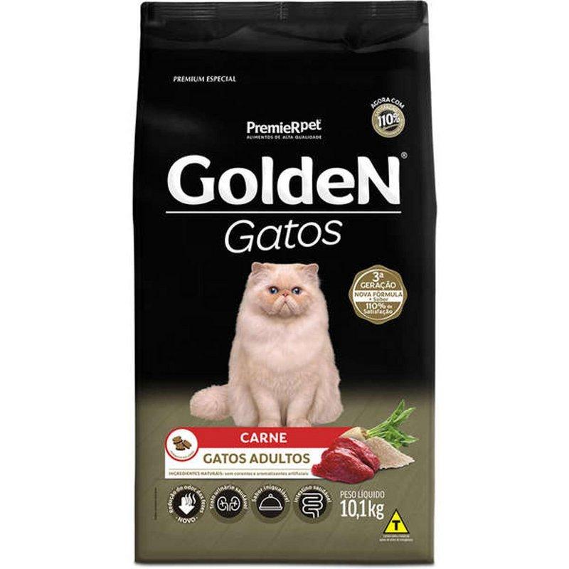 Golden Gatos Adulto Carne - 10,1kg