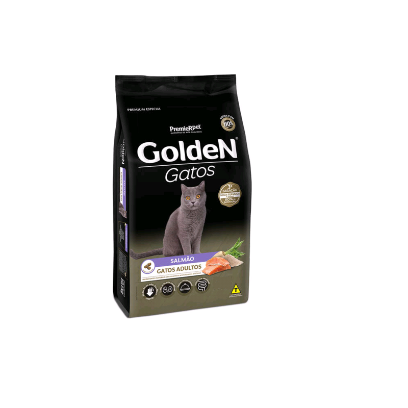 Golden Gatos Adultos Salmão 10,1kg