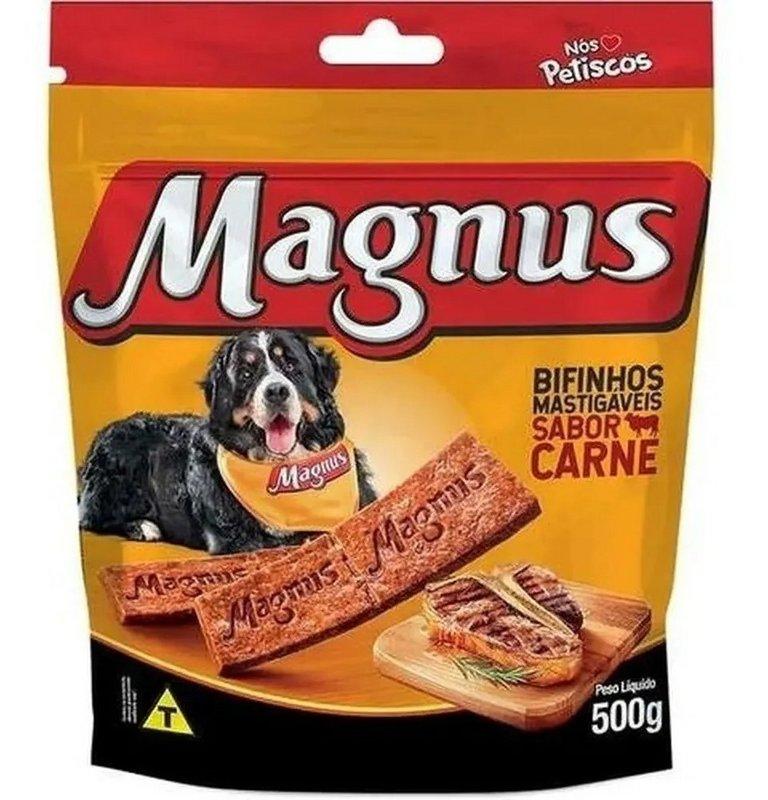 Kit 2 - Bifinho Magnus Mastigáveis Sabor Carne 500g