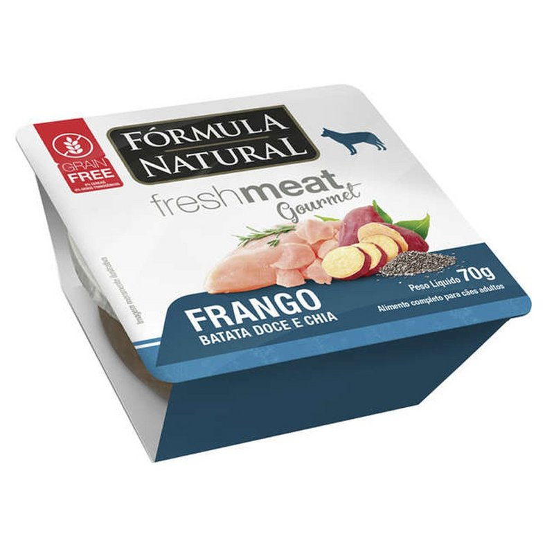 Kit 3 - Fresh Meat Gourmet P/ Cães Sabor Frango 70g