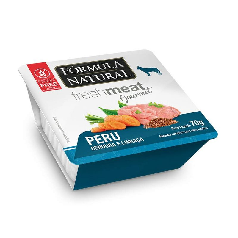 Kit 3 - Fresh Meat Gourmet P/ Caes Sabor Peru 70g
