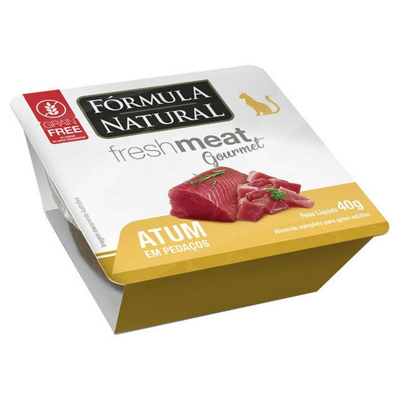 Kit 3 - Fresh Meat Gourmet P/ Gatos Sabor Atum 40g