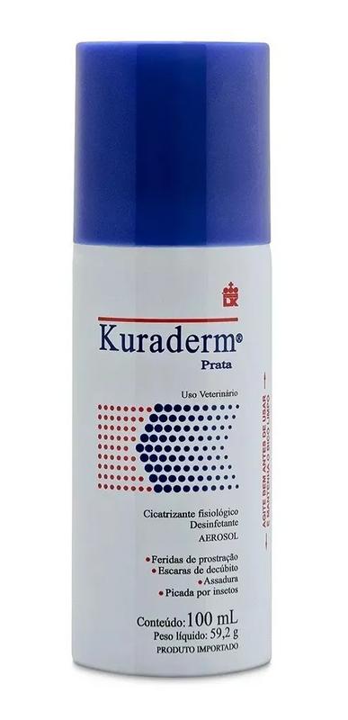 Kuraderm Spray Cicatrizante Bactericida Konig Cães 100ml
