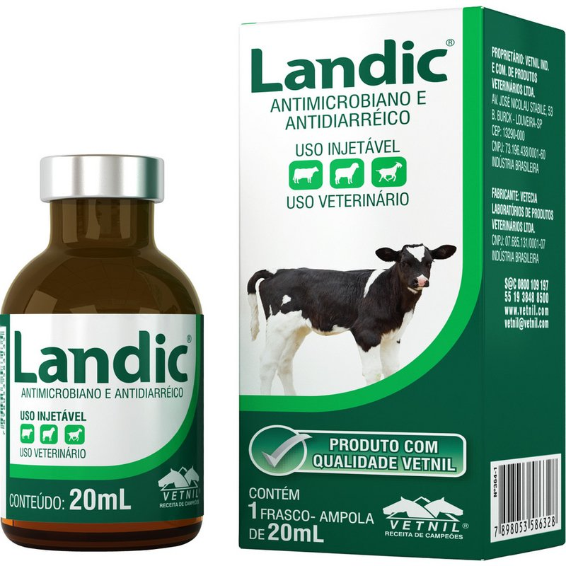 Landic Antimicrobiano Injetavel 20 Ml Vetnil