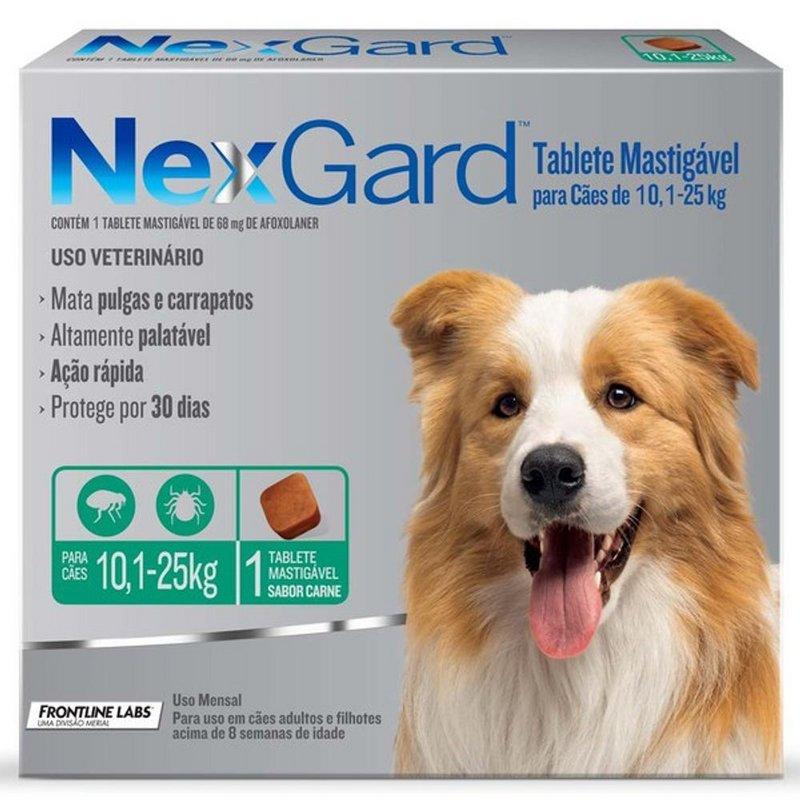 Nexgard Antipulgas/carrapatos 10kg - 25kg - 1 Comprimido