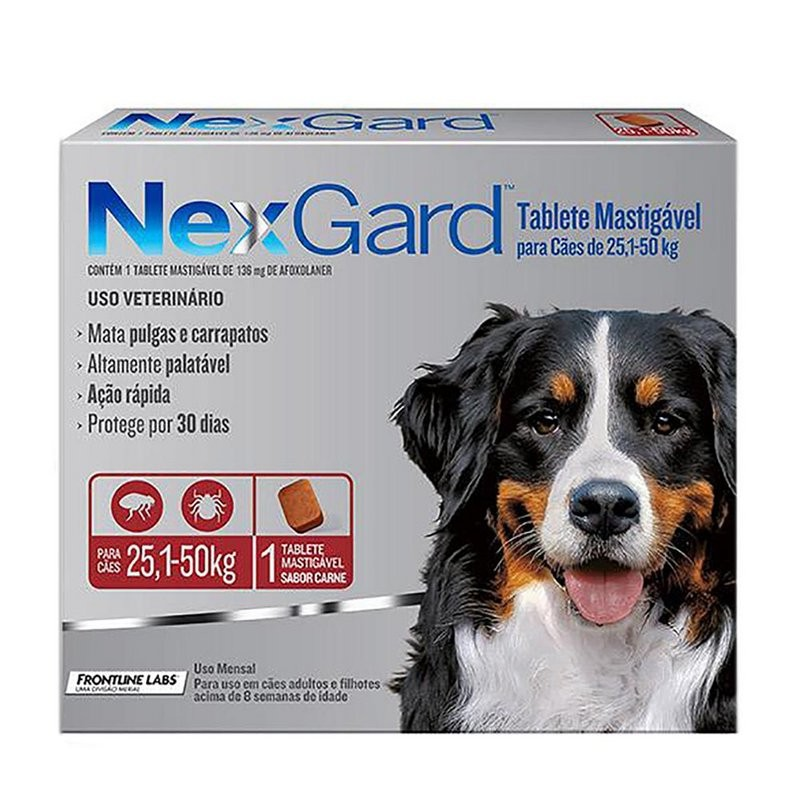 Nexgard - Antipulgas/carrapatos De 25-50kg 1 Comp Original