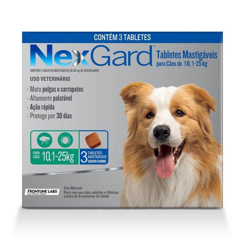 Nexgard Antipulgas Para Cães 10-25kg - 3 Tabletes Original