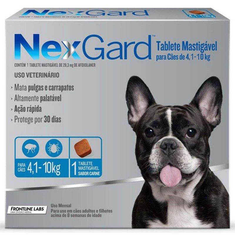Nexgard Contra Pulgas E Carrapatos 4-10kg - 1 Comp Original