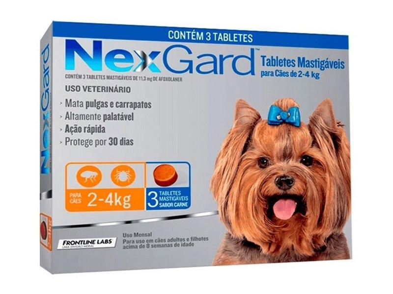 Nexgard De 2-4kg Antipulgas E Carrapatos - 1 Comp Original