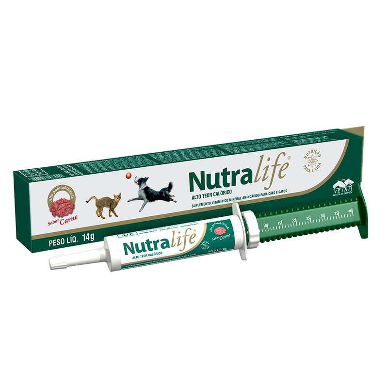 Nutralife Suplemento Vitamínico Para Cães E Gatos 14g