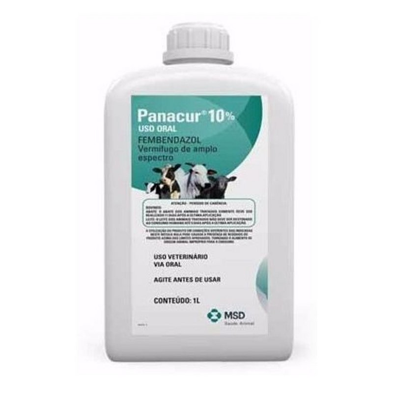 Panacur Suspensão 10% 1 Lt. - (vermífugo P/ Cães E Bovinos)