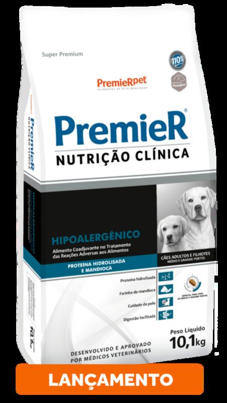 Premier Cães Hipoalergênico Hidrolisada E Mandioca - 2kg