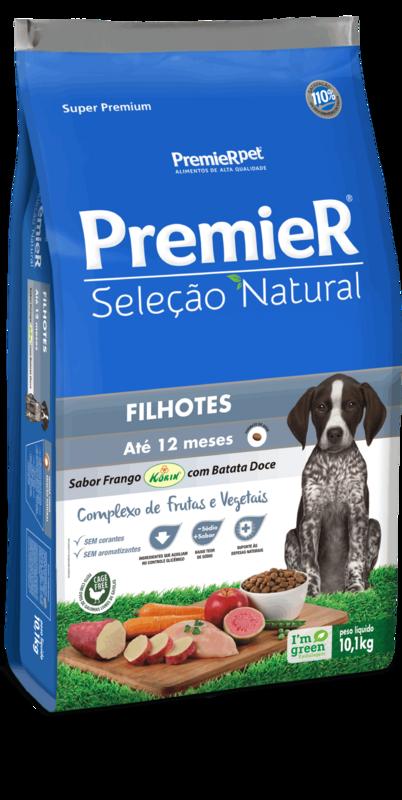 Premier Seleção Natural Cães Filhotes Frango Korin - 10kg