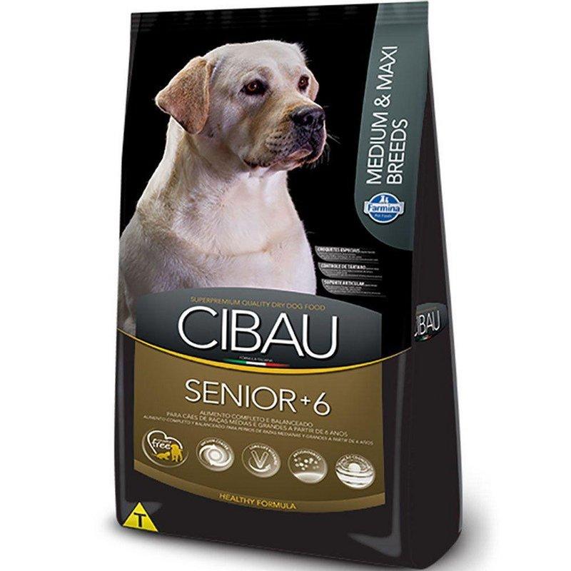 Ração Cibau Cães Senior +6 Raças Médias E Grandes - 12kg