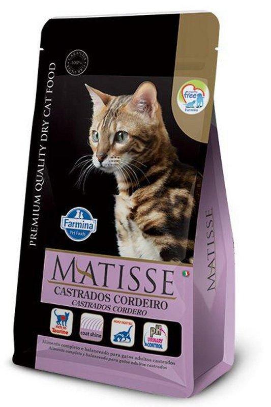 Ração Farmina Matisse Gatos Castrados Sabor Cordeiro 7,5kg