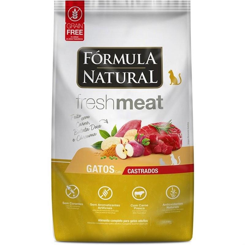 Ração Fórmula Natural Freshmeat Gatos Castrados Carne 1kg